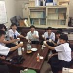 兵庫教育大学で取材