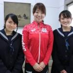 オリンピック選手にインタビュー