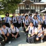 奈良・帝塚山高校へ 合同練習に参加